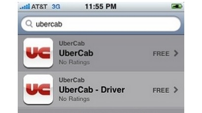 UberCab iTunes app store screenshot
