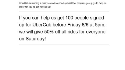 UberCab Marketing Screenshot