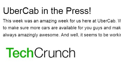UberCab makes the press