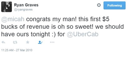 UberCab makes its first dollar